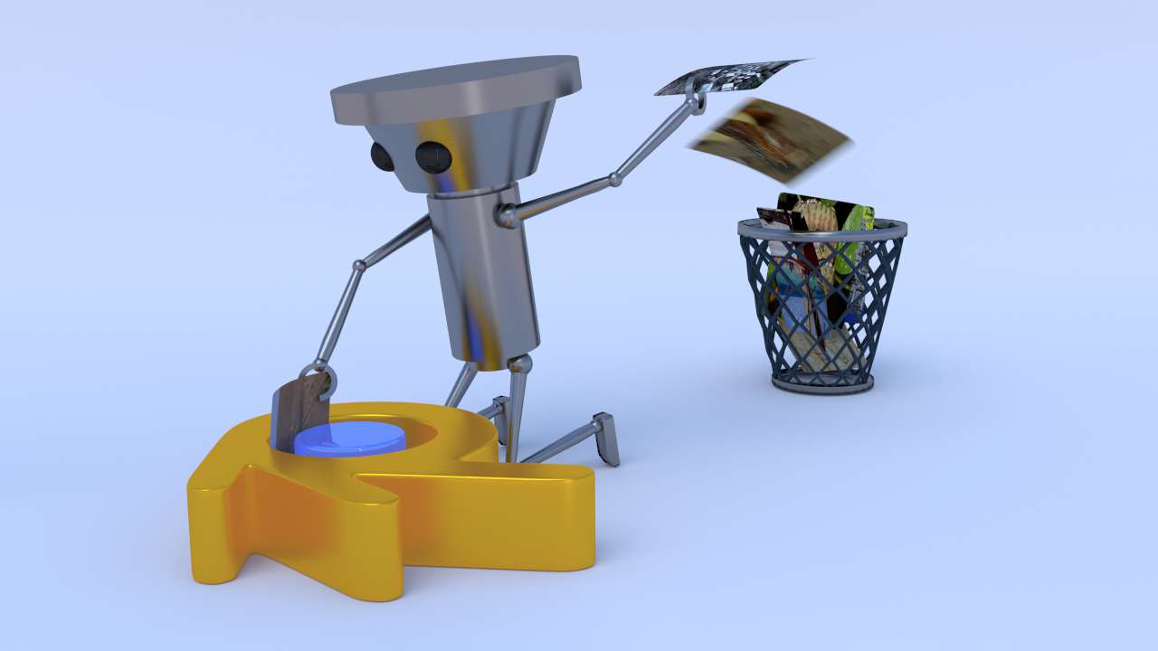 cleaning up blender