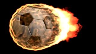 testrender burning soccer ball