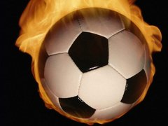reference burning soccer ball