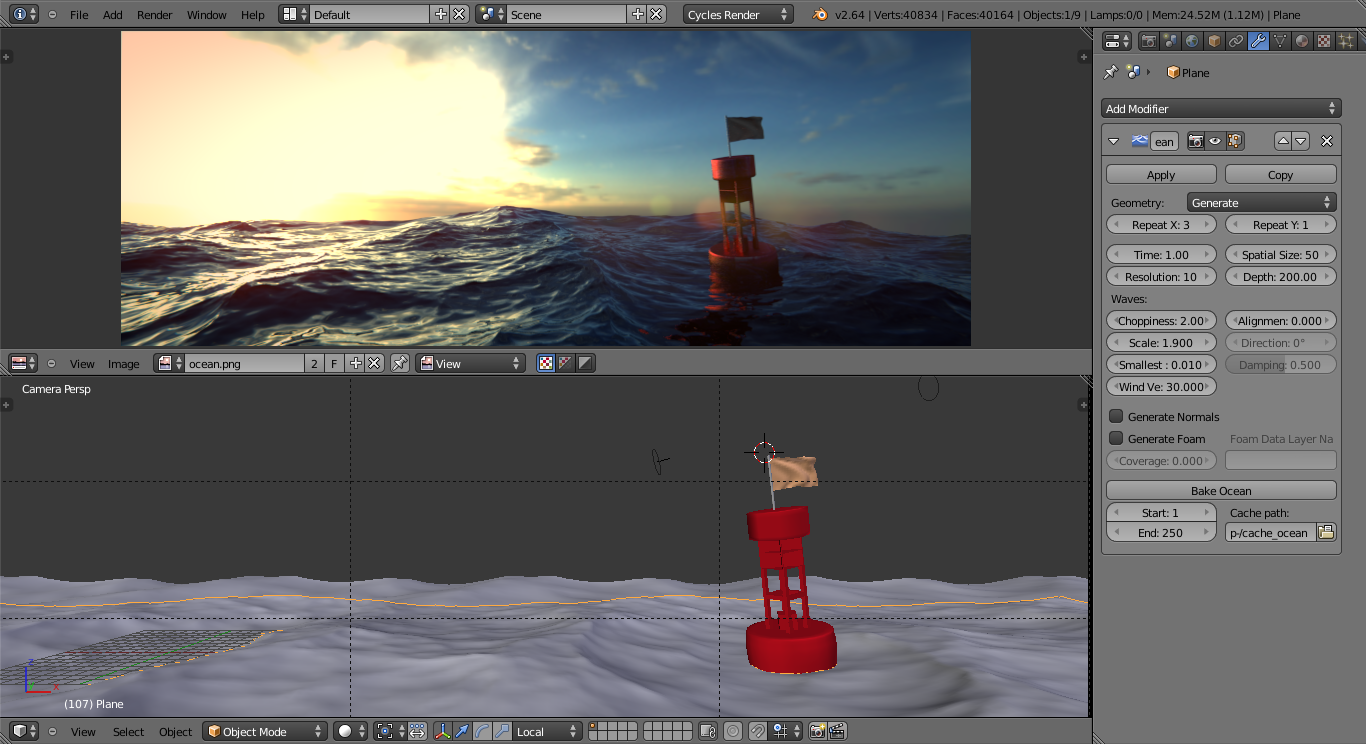 blender ocean simulation