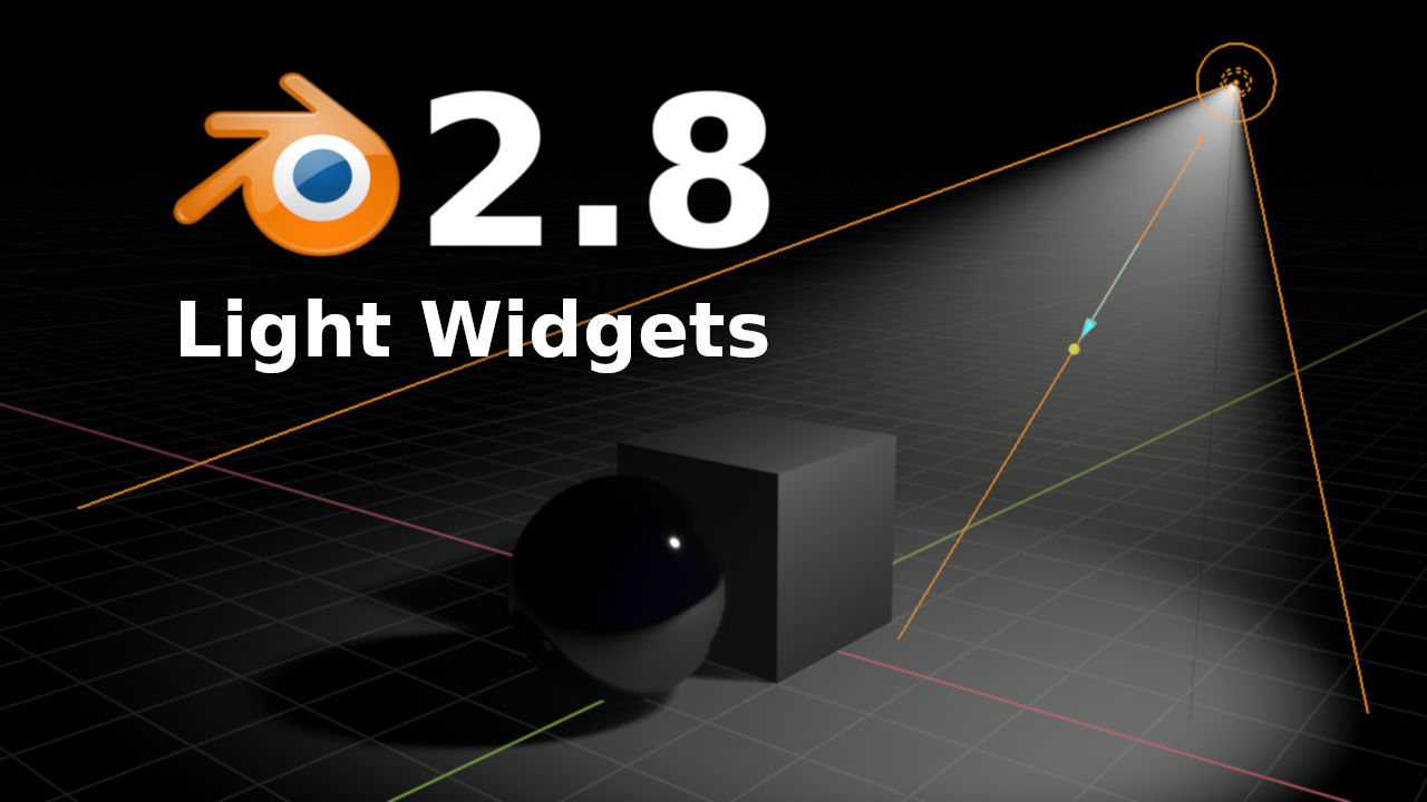 Blender 2.8 Light Widgets