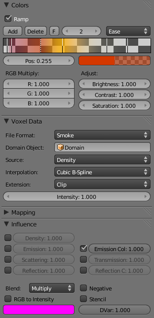 Settings Fire Texture